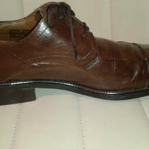 Stacy Adams Brown Leather Oxford Dress Shoes Size 9 M Men's u.s.a. Barely Used Photo
