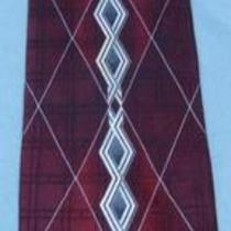 Stacy Adams Burgundy Silver Abstract Tie Necktie 2p23 Photo