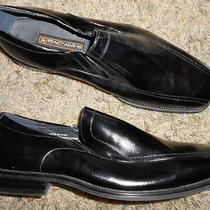 Stacy Adams Dress Casual Slip on Shoe Mens Size 11 Loafer Black Leather Photo