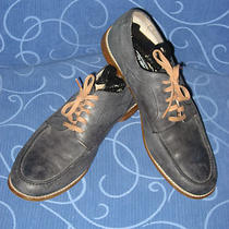 Stacy Adams . Men's . Blue Leather Shoes . Sz. 12 M Photo