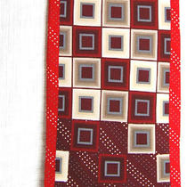 Stacy Adams Red White Black Grey Gray Square Art Deco Silk Mens Neck Tie Photo