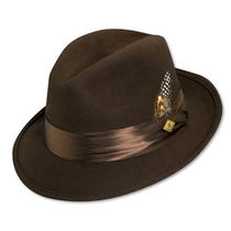 Stacy Adams Saw566-Brn3 1/sa Crush Wool Felt Fedora- Photo