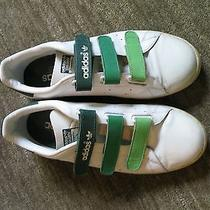 Stan Smith Velcro Tennis Sneakers/ Trainers- White/ Green Photo