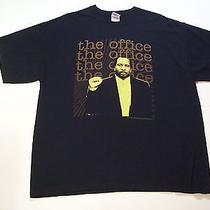 Stanley Hudson the Office Tv Show Shirt Black Adult Xl Euc 100% Cotton Tee  Photo
