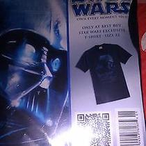 Star Wars Darth Vader Blu Ray Best Buy Exclusive Large T-Shirt New Sealed Bag Photo