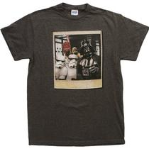 Star Wars Wookie Photo Bomb Mens Charcoal Heathered Tee (Medium) Photo