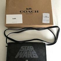 Star Wars X Coach Hayden Signature Foldover Crossbody Clutch Handbag New Leather Photo