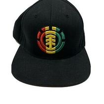 Starter Snapback Black Hat Element Skateboards Rasta Colors Photo