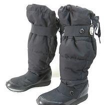 Stella Mccartney Adidas Moon Boots 6.5 Black Nylon Knee High Snow Vegan Flats Photo