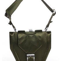 Stella Mccartney Army Green Satin Buckle Trim Hinge Detail Shoulder Bag Handbag Photo
