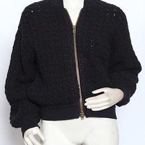 Stella Mccartney Cable Knit Navy Merino Wool Sweater Jacket 40 Us 6 Nwt 1990 Photo