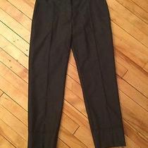 Stella Mccartney Dark Gray 100% Wool Work Dress Ankle Cropped Pants Size 38 Photo