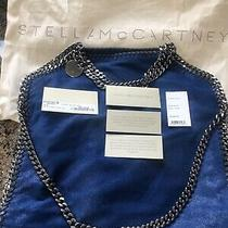 Stella Mccartney Falabella Foldover Tote. Royal Blue. 1095. Excellent Photo
