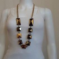 Stella Mccartney Fall/winter 2011 Necklace/belt Brass Wood Enamel Chain Photo
