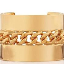 Stella Mccartney Gold Plated Oversized Cuff Falabella Bracelet Szl -Great Gift Photo