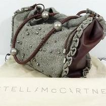 Stella Mccartney Green Tweed Studded Tote Bag Handbag Purse  Bag Photo