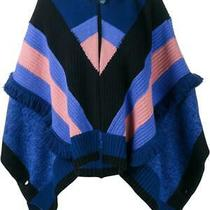 Stella Mccartney Knitted Poncho in Blue Navy & Pink Size 34 New Photo