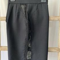 Stella Mccartney Lace Panel Wool Skirt It38  Photo