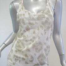 Stella Mccartney Leopard Print Racerback Tank Cream Size 38 245 Gently Worn Photo