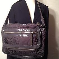 Stella Mccartney Lesportsac  Gray  Large Quilted Bag Sport Laptop Pristine 350 Photo