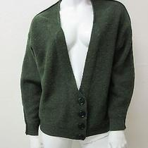 Stella Mccartney Made in Italy Deep v 4 Button Donegal Tweed Cardigan Sweater 40 Photo
