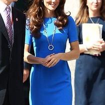 Stella Mccartney New Blue 'Kate Middleton' 'Ridley' Shift Dress-Uk 8us 4it 40 Photo