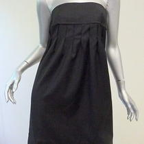 Stella Mccartney Strapless Pleated Dress Black Size 40 Gently Worn Photo