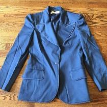Stella Mccartney Suit Jacket Blazer Blue 42 Lined Photo
