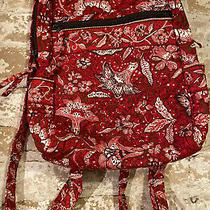 Stephanie Dawn Backpack Purse Red Floral Excellent Condition Photo
