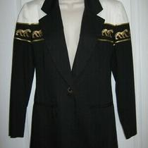 Stephanie Quellar Panther/lioness Black & White Blazer - Sz 4 Photo