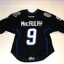 Stephen Macaulay 9  Saint John Sea Dogs Game Worn 2012-13 Jersey Photo