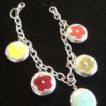 Sterling Silver .925 Hello Kitty Flower Bracelet  Photo