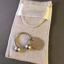 Sterling Silver Cartier Key Chain / Key Ring Photo