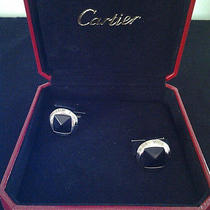 Sterling Silver Pasha De Cartier Cufflinks 100% Authentic Photo