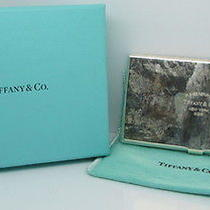 Sterling Silver Tiffany & Co. Business Card Holder - in Original Box Photo