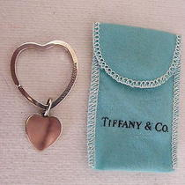 Sterling Silver Tiffany Heart Shapped Key Ring Mint Condition Photo
