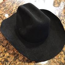 Stetson Pony Express Black Wool Cowboy Hat Size 7.25  Photo