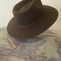 Stetson Pony Express Wool Hat Size 7-1/8  Brown W/leather Hat Band  Photo