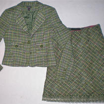 Steve & Barry Express Design Really Sharp Green Casual Suit W/ Skirt  Size M/8 Photo