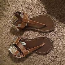 Steve Madden 8.5 T Strap Cognac Sandal  Photo