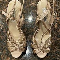 Steve Madden Allly Womens Rhinestone Stiletto Heels - Blush - Size 7 Photo