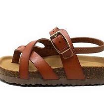 Steve Madden Baby Girls Bartlet Sport Sandals Cognac Brown Size 10t Photo