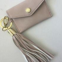 Steve Madden Bag Charm Key Chain Tassel Card Case Blush Nude Logo Name New  Photo