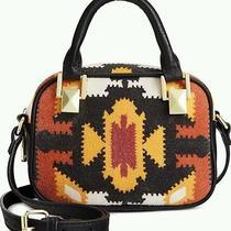 Steve Madden Balfie Multi Orange Small Crossbody Aztec Tribal Satchel Purse Bag Photo