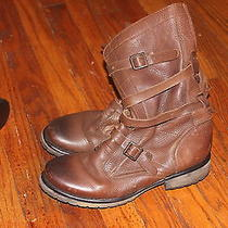 Steve Madden Banddit Brown Leather Boots Size 11 Photo