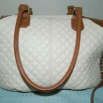 Steve Madden Beige Quilted Handled Purse Photo