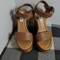 Steve Madden Belma Wedgies Sandals Size 6/35 New Brown Leather  Cute (Sb11s980) Photo