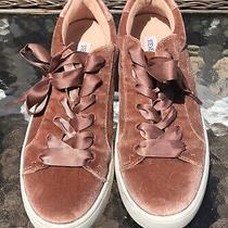 Steve Madden Bertie-v Pink/blush Velvet Fashion Sneakers Size 7.5 Photo