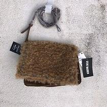 Steve Madden Bkate Faux Fur & Corduroy Studded Crossbody Handbag - Camel Photo