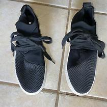Steve Madden Black Lace Up Slip on Solid Fabric Lancer Athletic Shoes Sz 7 B4991 Photo